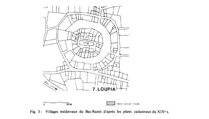 Fig 3 Villages Plan cadastraux du 19 eme